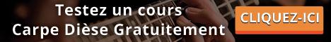 Cours de musique gratuit : essai individuel par webcam sur Carpe Dièse